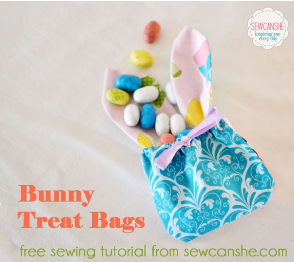 Bunny Treat Bags by Sew Can She