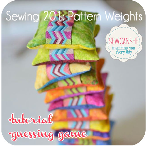Pattern Weights tutorial by Sew Can She