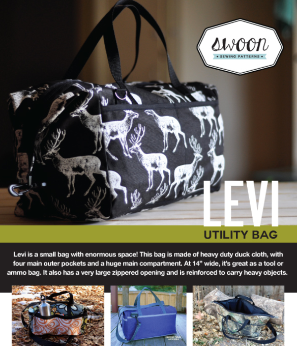 Levi Utility Bag by Swoon Sewing Patterns