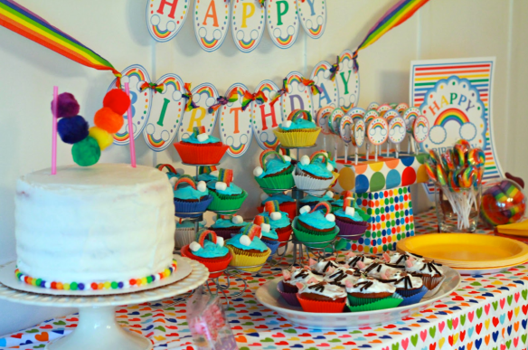 Rainbows and Kitty Cats Birthday Party by Welcome to the Mouse House