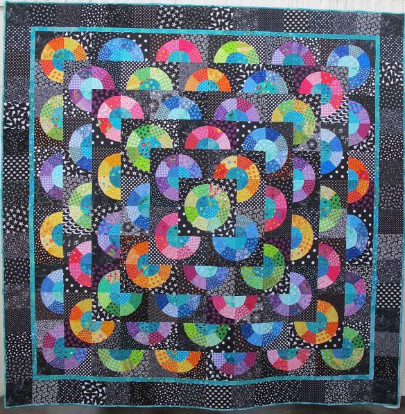 Jana's Graduation Quilt by Anna Martinez, quilted by laura Lee Fritz