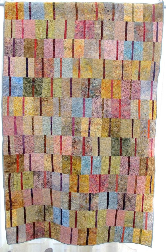 Desert in Winter by Josephine Jarvis, quilted by Sue Fox