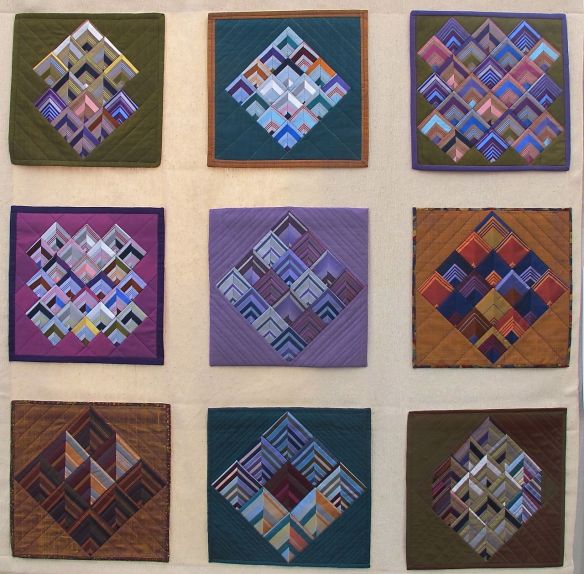 Jewel Box Series Collage--Silk Chevrons #1-9 by Jo Magaraci