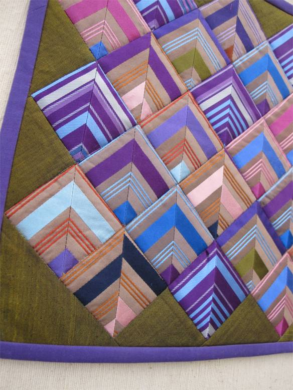 Jewel Box Series Collage--Silk Chevrons #1-9 by Jo Magaraci