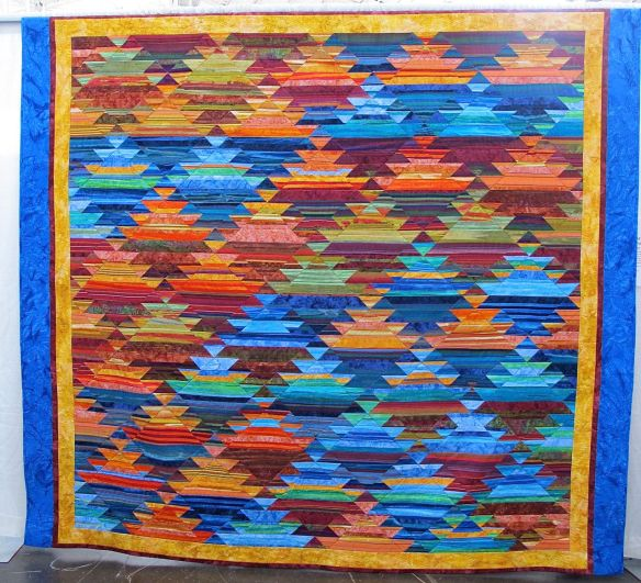 Cold Water in Canyonland by Karen O'Rourke, from the Kilim design by Kaffe Fassett