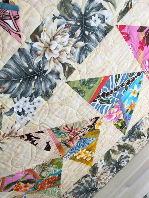 Makawao by Gay Nichols, quilted by New Pieces