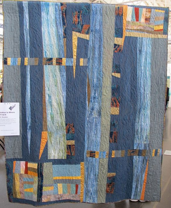 Inspiration Is Where You Find It by Sally V. Houston, quilted by Sue Fox