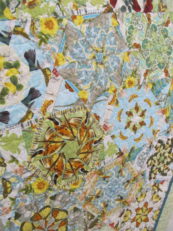 Whirled Birds and Butterflies by Lissa Miner, quilted by Kathy Ritter