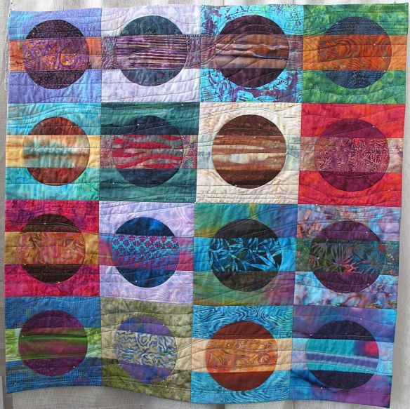 Pacific Moments by Mirka Knaster,  inspired by Christine Barne's book The Quilter's Color Club