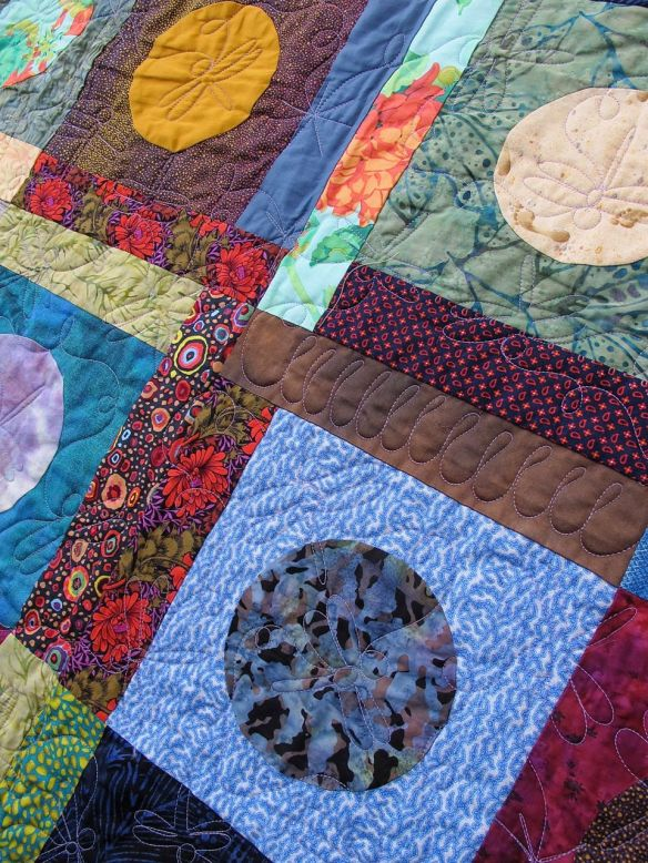 Blue Moon by Heather Jacobson, quilted by Kathy Ritter at New Pieces