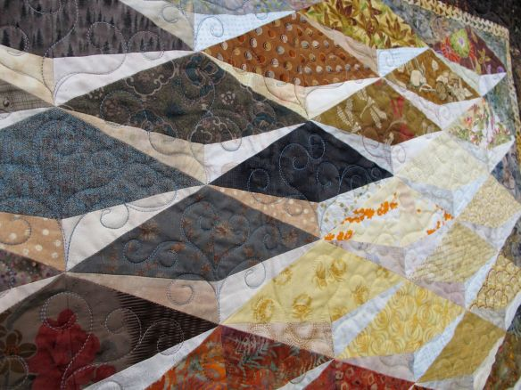 Return to California by Mary Risard Burnett, quilted by Melissa Quilter