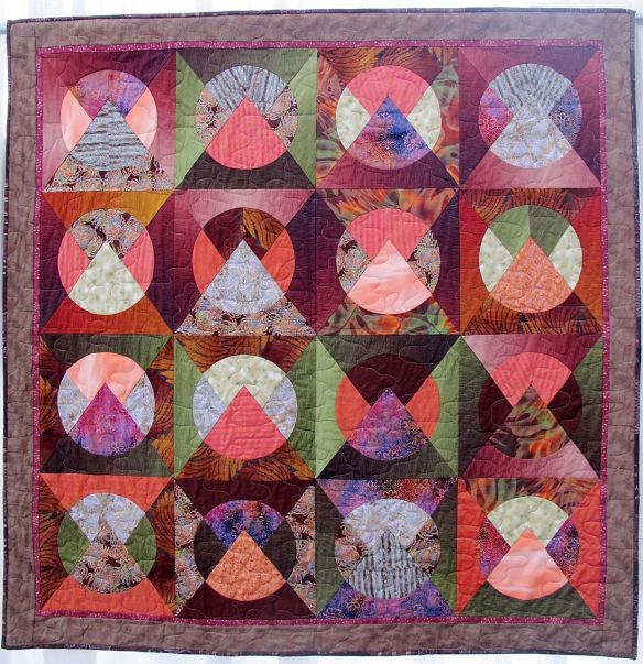 Moon Over The Mountain by Robin Halprin, quilted by Kathy Ritter, New Pieces