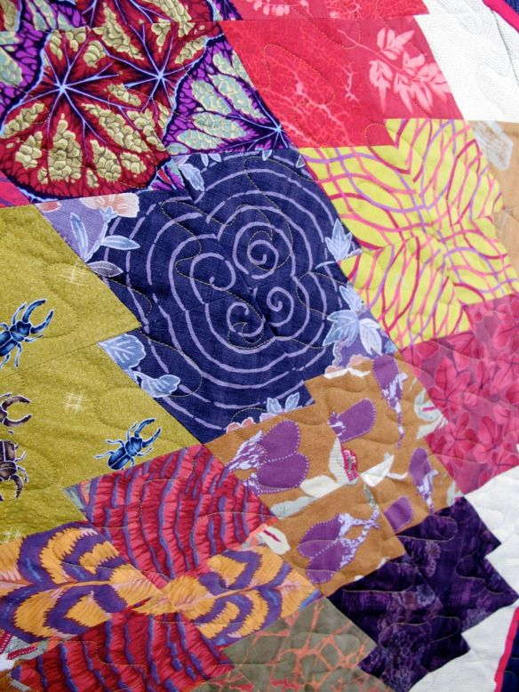 Japanese Eggplant by Susan Lambert, quilted by New Pieces