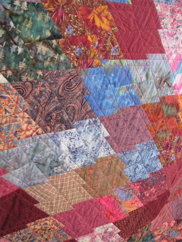 J Puzzle Number 2 by Margo Weeks, quilted by Rebecca Rohrkast