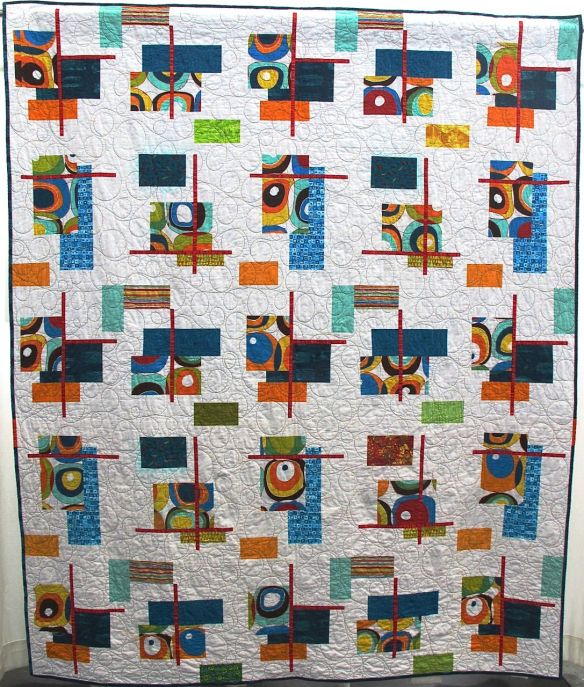 Olive My Love by Jane Toro, from a design by Elizabeth Hartman, quilted by New Pieces
