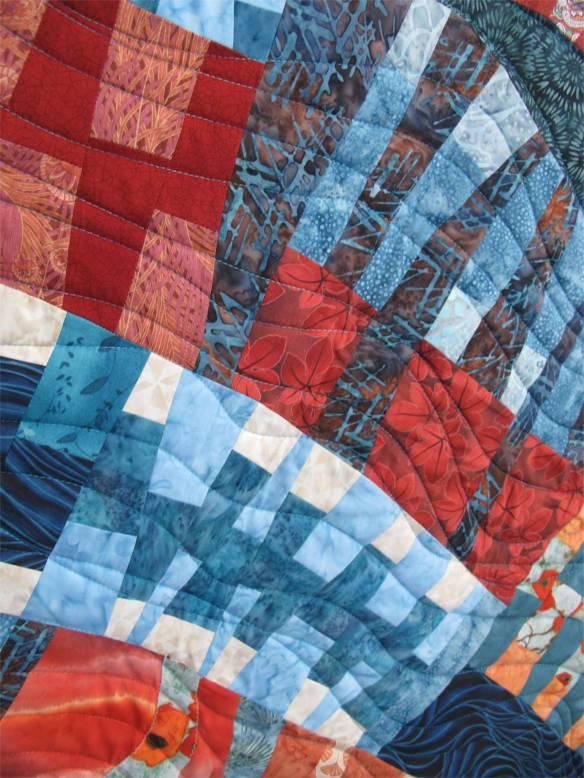 Flow by Karen Garrison, quilted by Angie Woolman