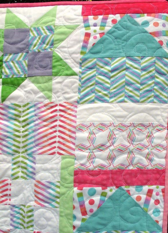 Sampler quilt from Quilts! Quilts!! Quilts!!! by Diana McClun and Laura Nownes using Pop Rox fabric