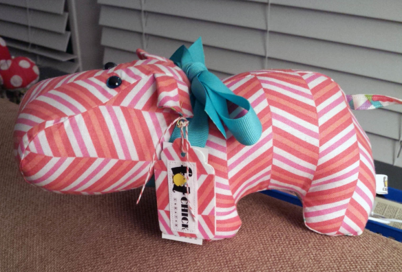 Harry Hippo Pattern by Two Little Banchees, made by Liz of Fat Chick Quilts