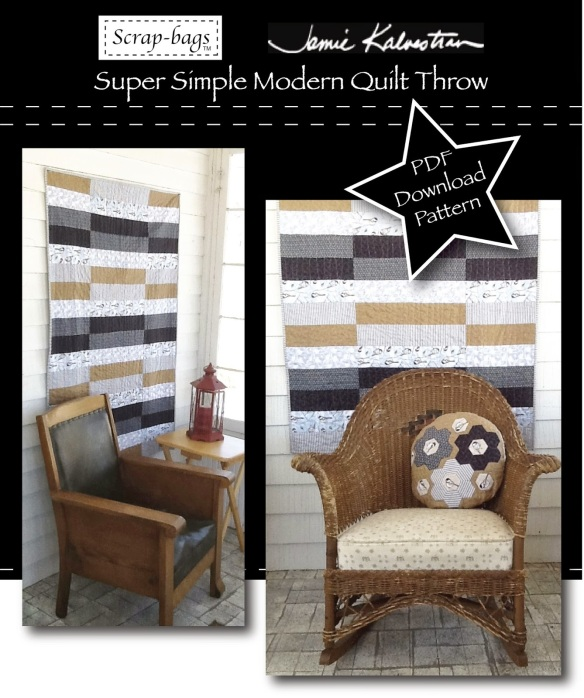 Super Simple Modern Quilt by Jamie Kalvestran