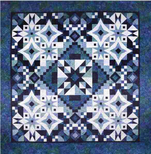 Asteria-Greek Goddess of the Stars, Block of the Month by Tiffany Hayes of Needle in a Hayes Stack