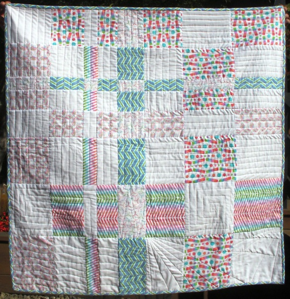 Pop Rox plaid baby quilt by Carol Van Zandt