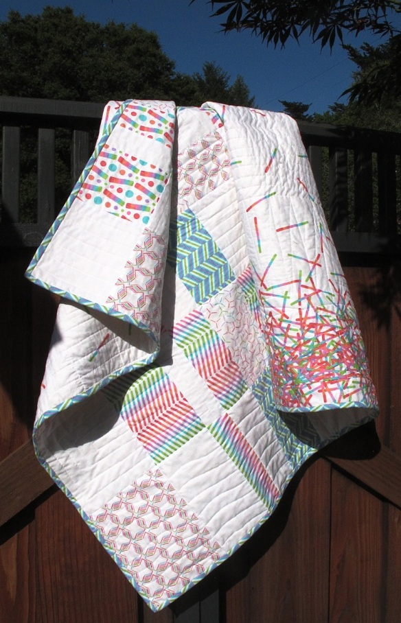 Pop Rox plaid baby quilt  by Carol Van Zandt