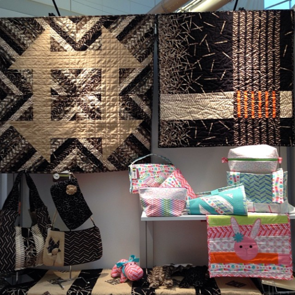 Pop Rox display in the Andover Fabrics booth at Spring Quilt Market 2014