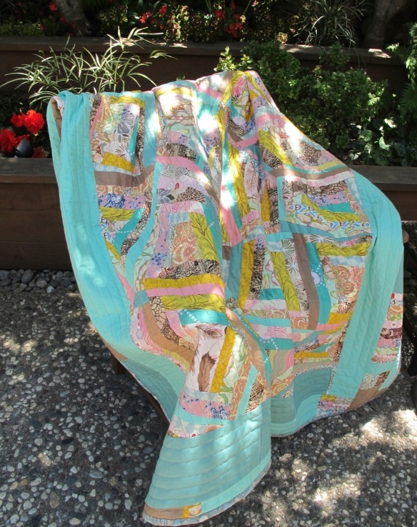 back of King Khalsa quilt by Carol Van Zandt