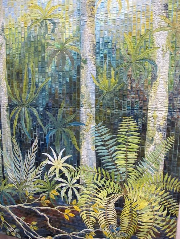 Detail of Fern pool by Gloria Loughman, Australia