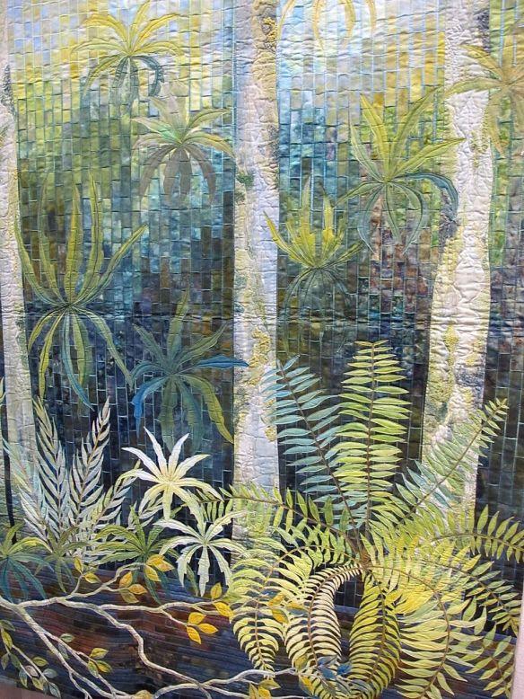 Detail of Fern pool by Gloria Loughman, Australia