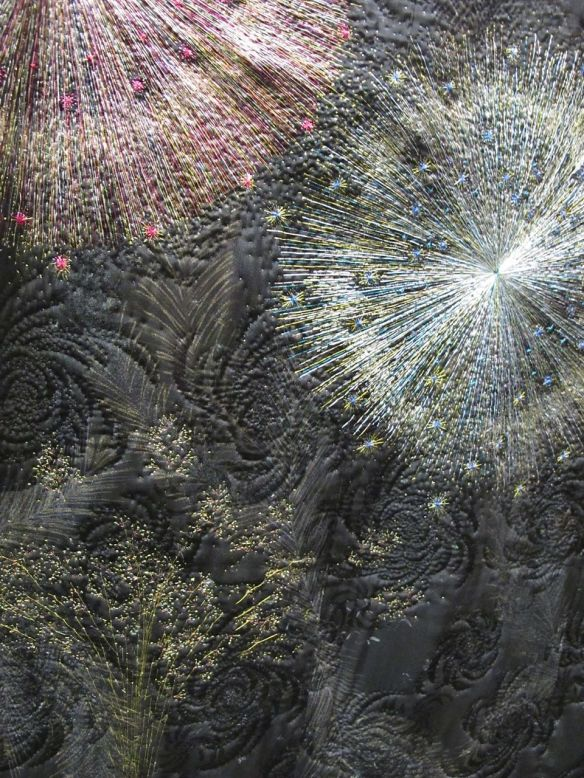 Detail of Fireworks by Chieko Baba. Japan