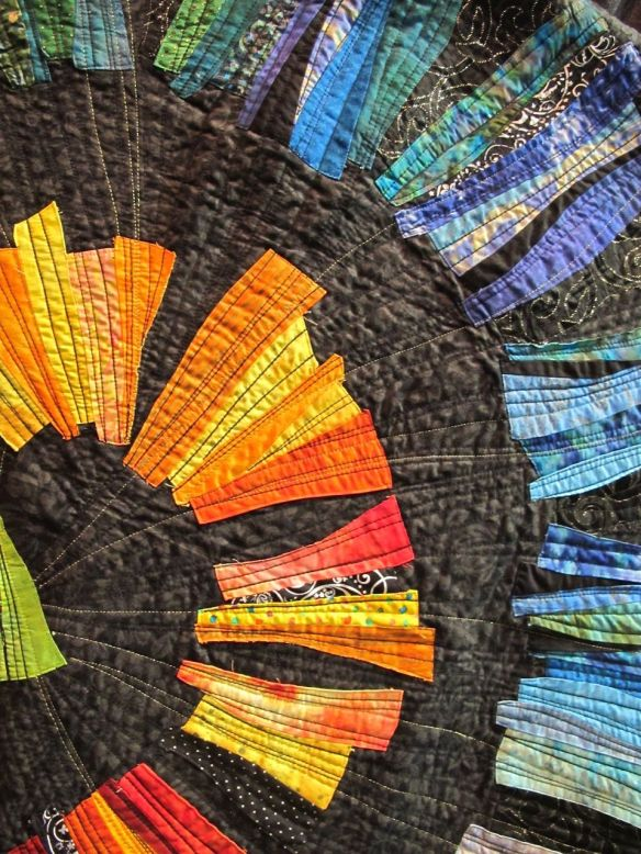 Detail of In the Fabric's Path by Orna Shahar. Israel
