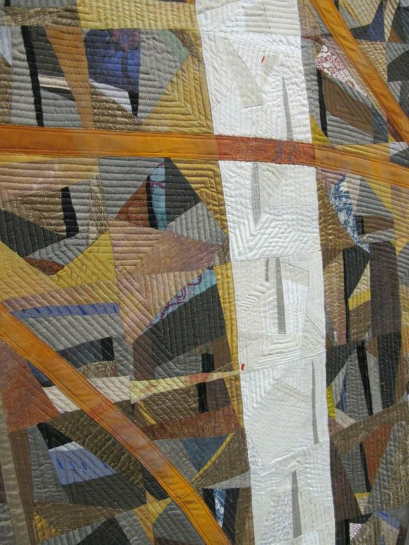 Detail of Layered Marks From the Sky by Carol Nilsen