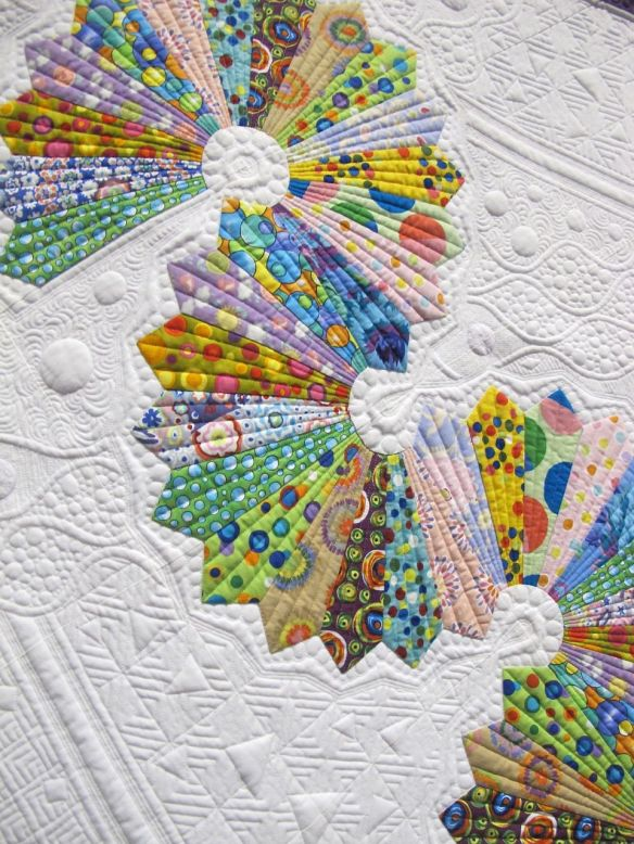 Detail of Let's Do the Dresden Twist by Teri L. Cherne, USA