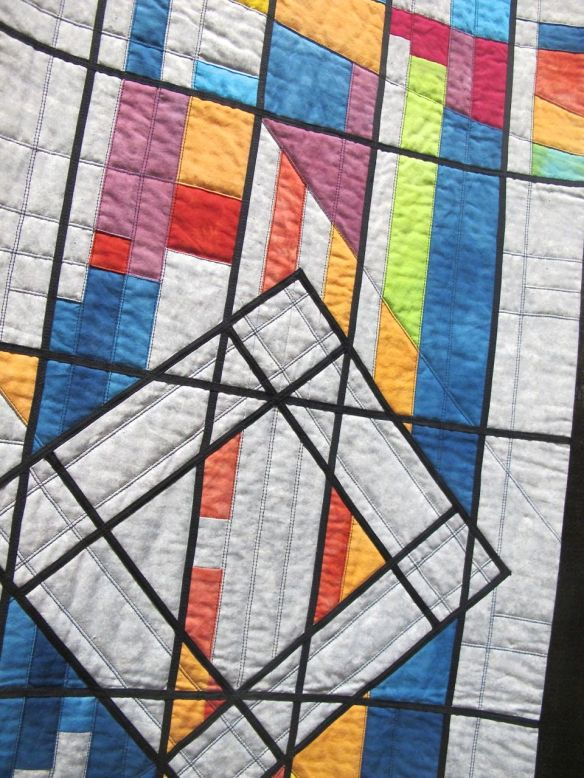 Detail of Memorial Star Quilt by Fiona Macaulay Davies, UK