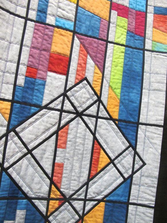 Detail of Memorial Star Quilt by Fiona Macaulay Davies, UK