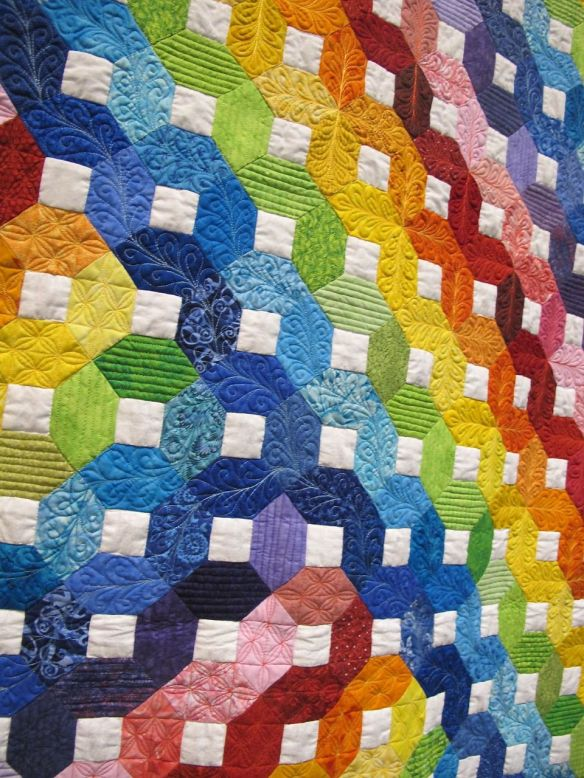 Detail of Rainbow Quilt by Grit Kovacs, Germany