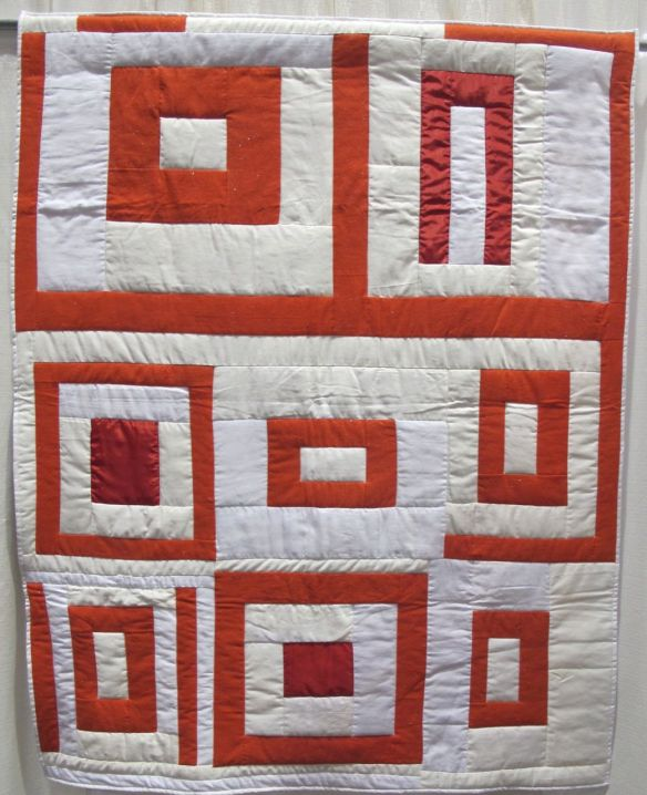 Housetop 8-Block Variation by Allyson Allen, Original quilt by Linda Pettway, ca.1975