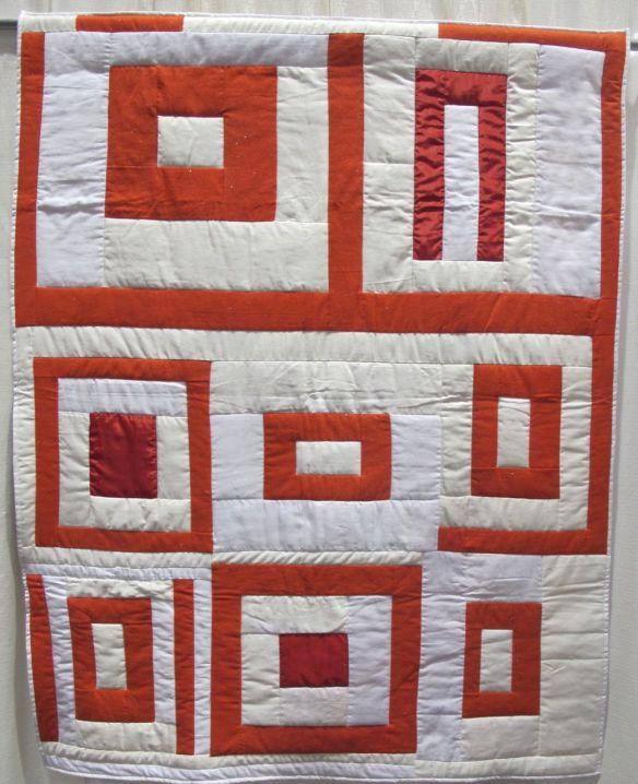 Housetop 8-Block Variation by Allyson Allen, Original quilt by Linda Pettway, ca.1975