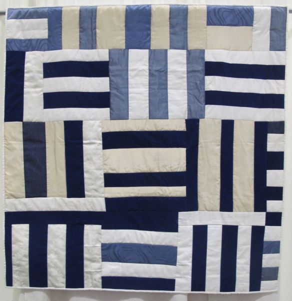 Roman Stripes Variation by Allyson Allen, Original quilt ca. 1960 by Deborah Pettway Young