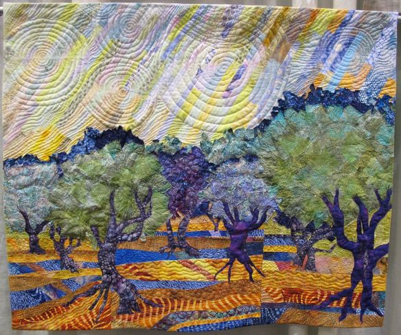 Trees with Yellow Sky by Jan Soules
