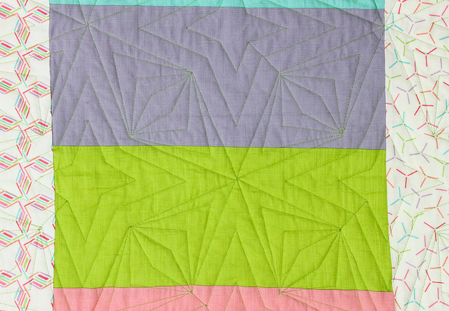 Back of The Carnival Quilt by Stacey Sharman of Peppermint Pinwheels