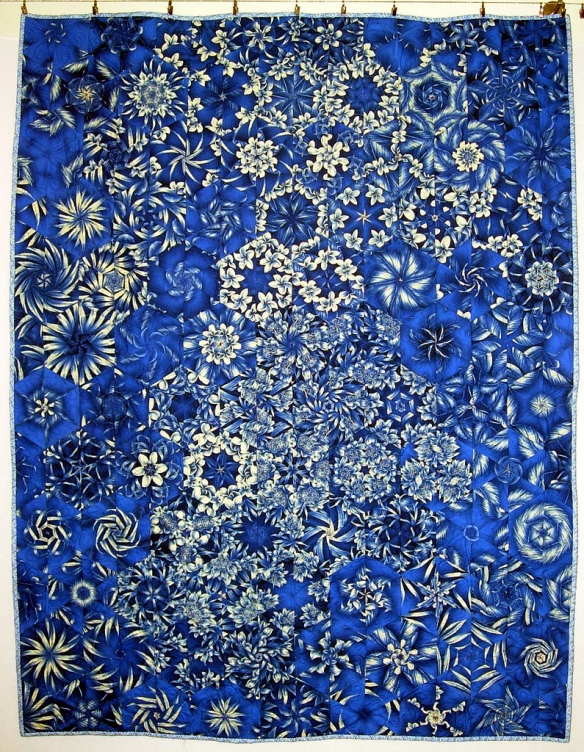 Blue Flowers Quilt by Stacey Sharman of Peppermint Pinwheels