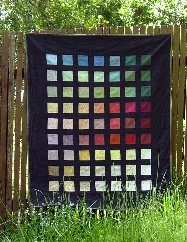 Colorblock Quilt by Stacey Sharman of Peppermint Pinwheels