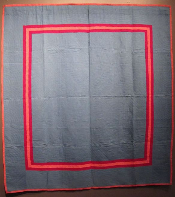 Plain Quilt with Inner Border, c. 1915. Unknown maker. Origin unknown. Cotton.