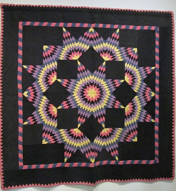 Broken Star, c. 1925-30. Made by Katie M. Yoder, mother of Mrs. Henry A. Raber Baltic, Holmes County. Cotton.