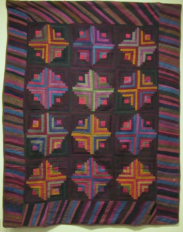 Log Cabin, Light & Dark Variation, c. 1880-90, unknown maker, Holmes County, Wool