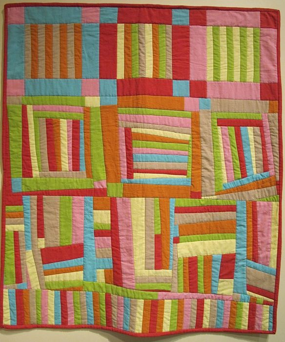 Circus Improv by Carol Van Zandt 2014, using Andover textured solids
