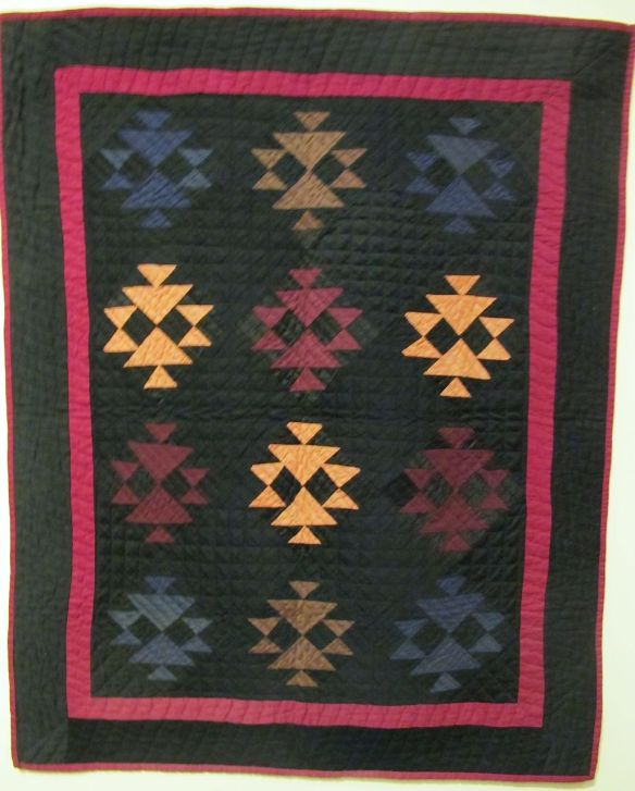Fox and Geese, c. 1900-1910. Maker unknown, Mt. Hope, Holmes County. Cotton and wool.