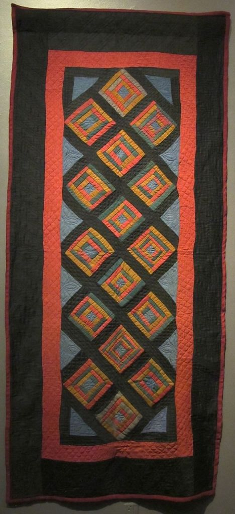 Lounge Quilt, c. 1920. Unknown maker. Holmes County. Cotto  and wool.